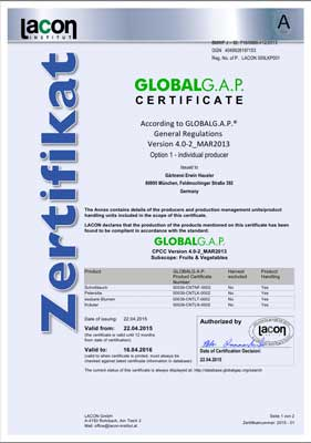 GLOBALG.A.P - Hausler Gartenbau