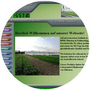 Neue Website der Gärtnerei Hausler in München