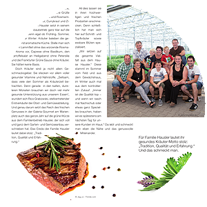 Gärtnerei Hausler im Galeria-Gourmet-Magazin